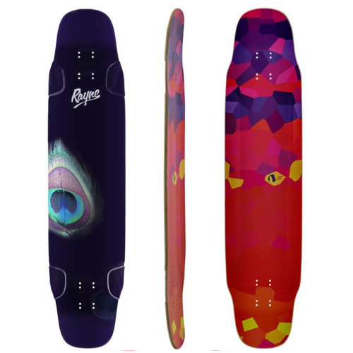 "Rayne Longboard WHIP PEACOCK 41"" DECK ONLY"
