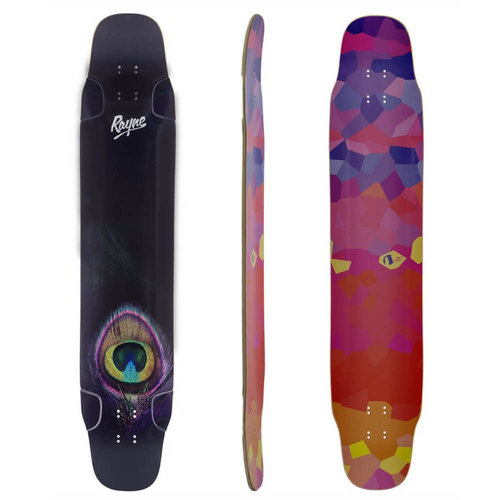 "Rayne Longboard WHIP PEACOCK 47"" DECK ONLY"