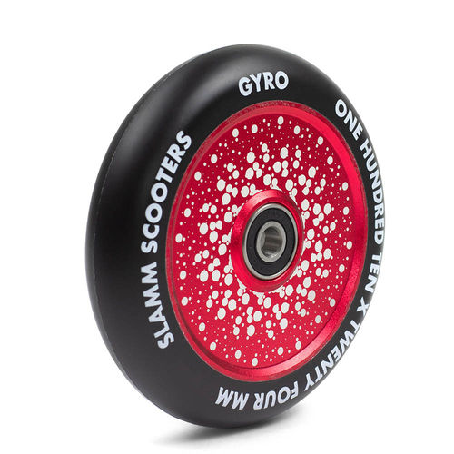 Slamm 110mm Gyro Hollow Core Rollen Rot